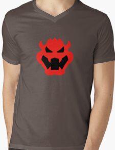 Super Mario Bowser Icon Mens V-Neck T-Shirt
