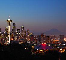 Seattle skyline by Bob Hortman
