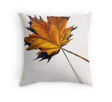 Fall Leaf (Yellow) Throw Pillow