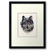 Wolf // Persevere Framed Print