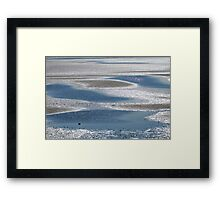 Low tide puddles Framed Print