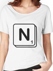 N scrabble print Women's Relaxed Fit T-Shirt