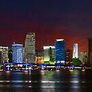 Miami City by Night by Bruno Beach