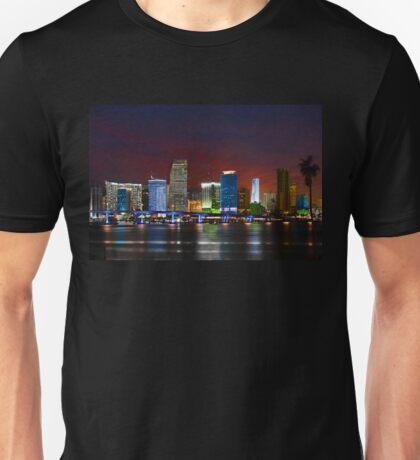 Miami City by Night Unisex T-Shirt