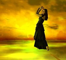 Goth Dancer on Smokin'  Skywalk - for Denis M. by Sazzart