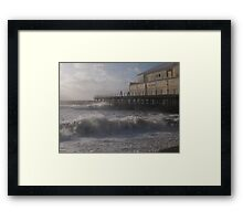 Waves breaking on Bognor Regis Pier Framed Print