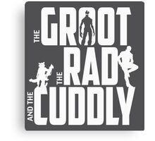 The Groot, The Rad and the Cuddly (V02 Graphite) Canvas Print