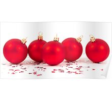 red christmas balls Poster