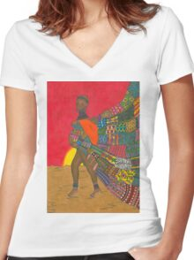 Masai - Mother & Child Women's Fitted V-Neck T-Shirt