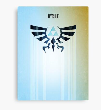 Legend of Zelda Hyrule Rising Minimal Vector Poster  Canvas Print