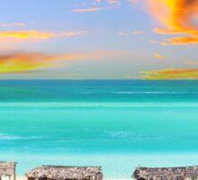 Postcard from Varadero Beach, Cuba Sticker