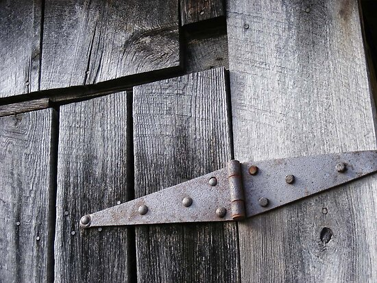 Rusty Barn Hinge by KennethWright