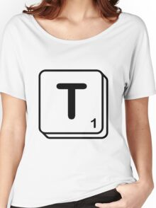T scrabble print Women's Relaxed Fit T-Shirt