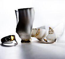 Broken Tea Cup by Jef Harris