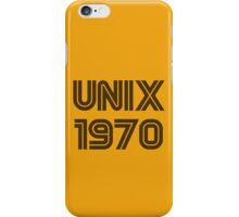 Unix 1970 iPhone Case/Skin