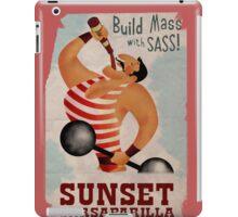Build Mass With Sass iPad Case/Skin