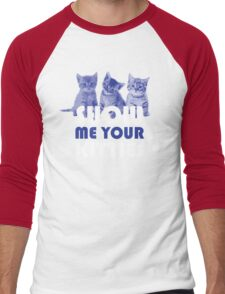 Show Me Your Kitties! Men's Baseball ¾ T-Shirt