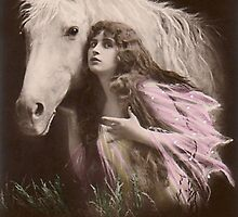 Vintage Beauty and  Her Horse by VintageMoon