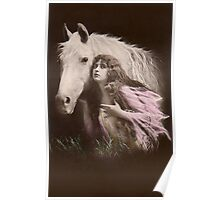 Vintage Beauty and  Her Horse Poster