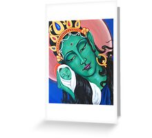 Green Tara -acrylic on canvas Greeting Card
