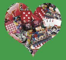 Heart - Las Vegas Playing Card Shape  by Gravityx9