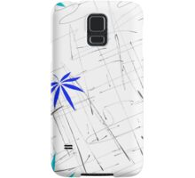 Colorful Marijuana Leaves and Scratches Samsung Galaxy Case/Skin