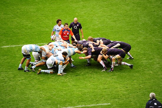 The Scrum: England V Argentina Nov 2009 by DonDavisUK