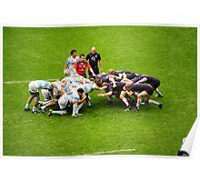 The Scrum: England V Argentina Nov 2009 Poster