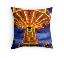 Midway at Night Throw Pillow