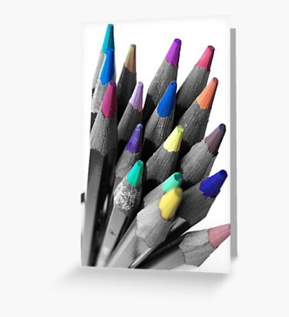 Coloured tips Greeting Card