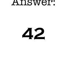 42 by Sam Whitelaw