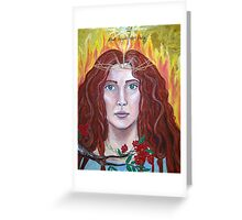 Brigid -Goddess of Fire- acrylic mixed media on canvas   Greeting Card