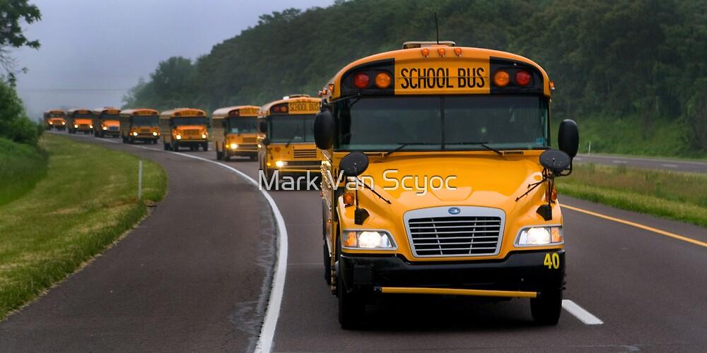 School Bus Caravan by Mark Van Scyoc