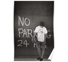 No Parking 24 Hours Poster