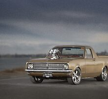 Gold 1969 HK Holden ute by John Jovic