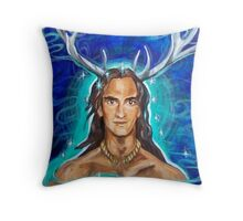Cernunnous  Throw Pillow
