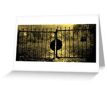 SPOOKY GATE Greeting Card