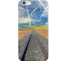 Railroad tracks in Mojave Desert California iPhone Case/Skin