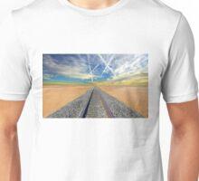 Railroad tracks in Mojave Desert California Unisex T-Shirt