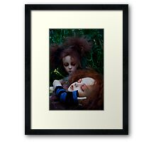 Lyre and Lover Framed Print
