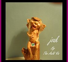 Joak when he wis a wee pixie bairn way wee wee  fig leaf by Alex Gardiner