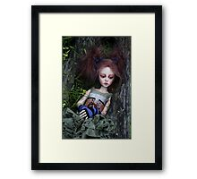 Deep in the woods (Contemplation) Framed Print