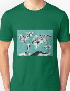 World Map landmarks Unisex T-Shirt