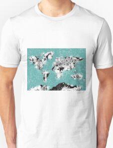 World Map landmarks T-Shirt