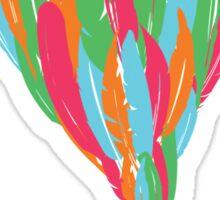 Feather Balloon Sticker