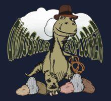 Cartoon Tyrannosaurus Dinosaur Explorer  One Piece - Long Sleeve