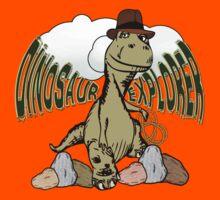 Cartoon Tyrannosaurus Dinosaur Explorer  Kids Tee