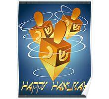 Happy Hanukah Dreidel Poster