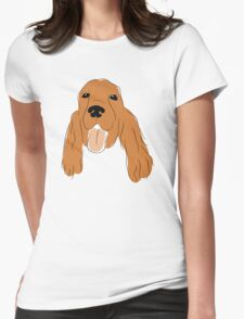 Illustrated Cocker Spaniel Womens Fitted T-Shirt