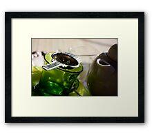 Green Tea for One Framed Print